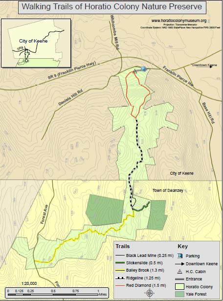 Trails Maps Horatio Colony Museum